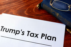 Trump Tax Plan. Stock Photos