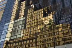 Trump Tower building reflection. Building reflection on the Trump Tower in New York Royalty Free Stock Photos