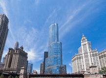 Trump Tower in Chicago Royalty Free Stock Photos