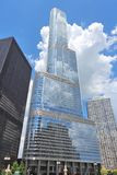 Trump Tower, Chicago. CHICAGO, USA - JUNE 28, 2013: Trump International Hotel & Tower in Chicago. It is 423m tall and was finished in 2009. As of 2013 it is 2nd Stock Image