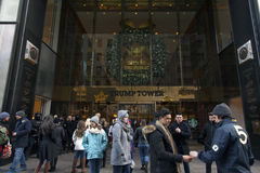 Trump tower entrance  in NYC Stock Photos