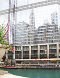 Trump Tower facade and Chicago river Royalty Free Stock Photos