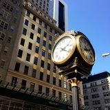 Trump Tower gold street clock Royalty Free Stock Images