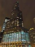 Trump Tower at Night Stock Photos
