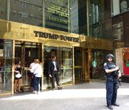 Trump Tower Security, New York City, NYC, NY, USA Royalty Free Stock Photo
