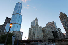 Trump Tower and Wrigley Building Stock Images