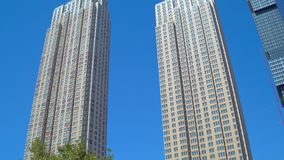 Trump Towers Jersey City. Stock video of Trump Towers in Jersey City stock video