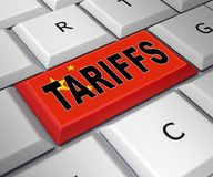 Trump Trade Tariffs On China As Payment And Penalty - 3d Illustration. Trump Trade Tariffs On China As Payment And Penalty. Usa Finance Economy Trading Taxation royalty free illustration