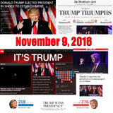 Trump Triumps - online highlights from 11/09/20167 Royalty Free Stock Photography