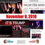 Trump Triumps - punti culminanti online da 11/09/20167 Fotografia Stock Libera da Diritti