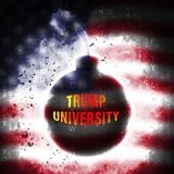 Trump University Student Education College By President - 3d Illustration stock photography
