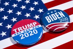 Free Trump V Biden 2020 Presidential Election Royalty Free Stock Image - 181967186