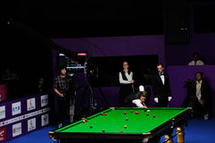 Trump vs Obrien in 2012 WSIC. On 30 October 2012,Judd Trump beat Fergal O'brien 6-3,following this success,he won the final of  2012 World Snooker Royalty Free Stock Images