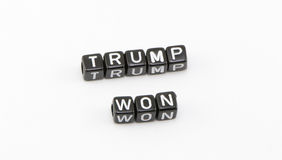 Trump won the floor Royalty Free Stock Images