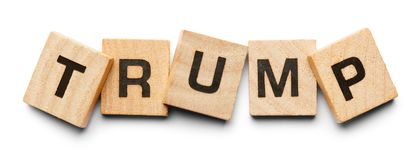 Trump Wood Tiles Royalty Free Stock Photo