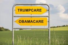 Trumpcare e Obamacare Imagens de Stock Royalty Free