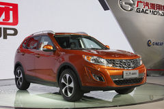 Trumpchi GS5 SUV premiere in Guangzhou Auto Show. 2011. It is the first SUV of Guangzhou Automobile Industrial Group Royalty Free Stock Images