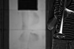 trumpet игрока Стоковая Фотография RF