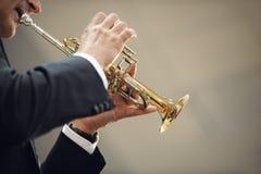 trumpet игрока Стоковая Фотография