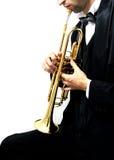 trumpet игрока Стоковое Изображение