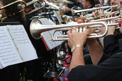 trumpet игрока Стоковое Изображение RF