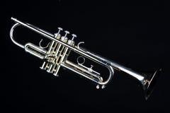 trumpet изолированный чернотой Стоковые Изображения RF