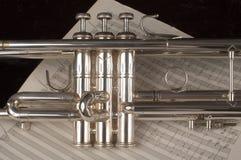 trumpet листа нот Стоковое Изображение RF