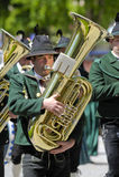 trumpet музыканта стоковая фотография rf