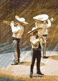 trumpet музыкантов mariachi Стоковое фото RF