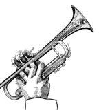 Trumpet на белой предпосылке Стоковые Фотографии RF