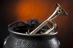 trumpet спайдера halloween Стоковые Изображения RF