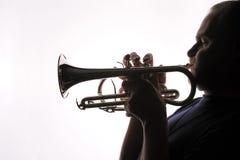 trumpet 01 игрока Стоковая Фотография