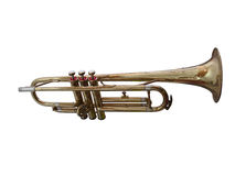 Trumpet. On white background Stock Photography