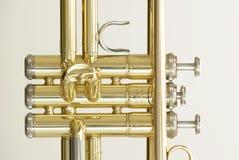 Trumpet. A part of a golden trumpet Stock Images