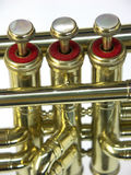 Trumpet. THE VALVES JAZZ OF A TRUMPET royalty free stock photo