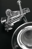 Trumpet 2 b&w Royalty Free Stock Images