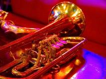 trumpet royaltyfria bilder
