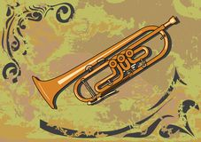 trumpet vektor illustrationer