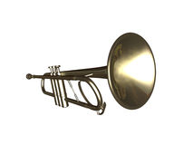 Trumpet. Isolated with white background Royalty Free Stock Photos