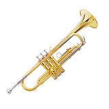 Trumpet. This is a White Background  Trumpet Stock Image