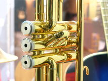 Trumpet. Button royalty free stock image