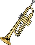 Trumpet. A digital illustration of a trumpet Royalty Free Stock Photos