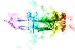 Trumpet abstrakta Jazz Smoke Royaltyfria Bilder