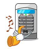 With trumpet air cooler isolated with the cartoon. Vector illustation stock illustration