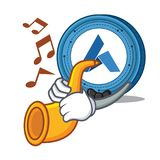 With trumpet Ardor coin mascot cartoon. Vector illustration Royalty Free Stock Photography