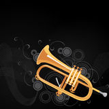 Trumpet background Royalty Free Stock Photos