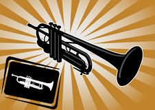 Trumpet background vector royalty free stock photo