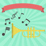 Trumpet banner Royalty Free Stock Photography