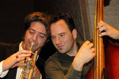 Trumpet & Bass Jam 2 Stock Photo