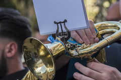 Trumpet being played in an event Royalty Free Stock Image